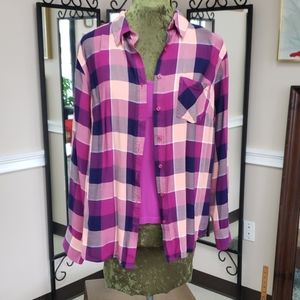 Flannel with Matching Cami